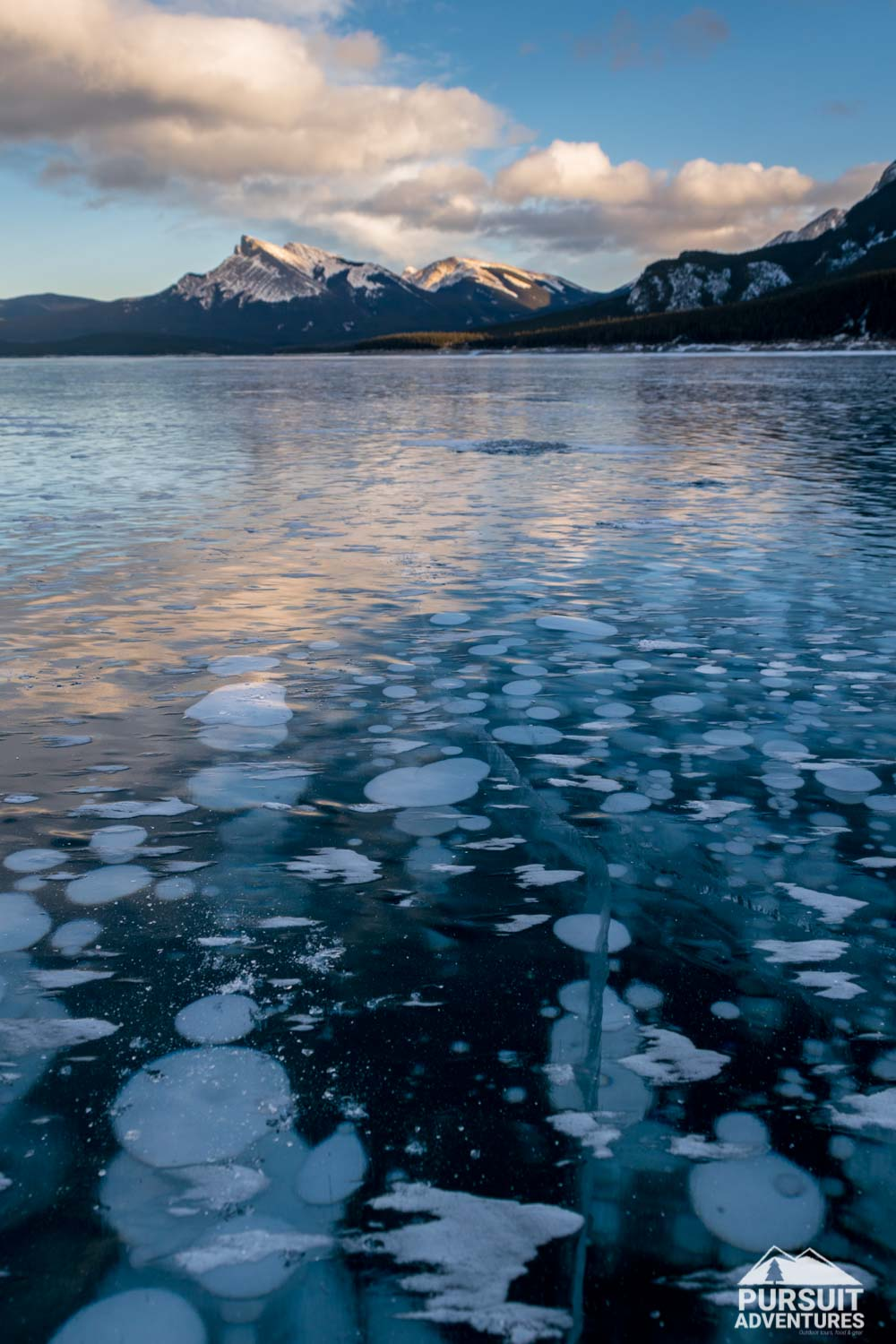 Abraham Lake Ice Bubbles
